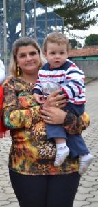 Mamãe Samantha e o filho Joaquim