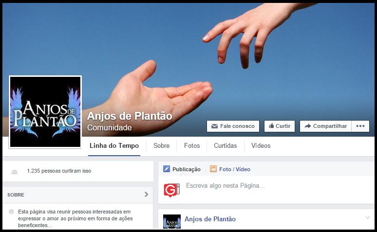 Página Anjos de Plantão