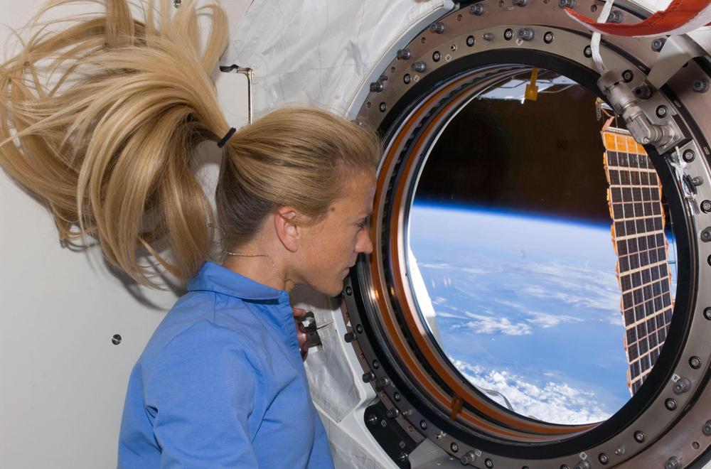 Astronauta Karen Nyberg na Estação Espacial (Foto: Agência Espacial Europeia)