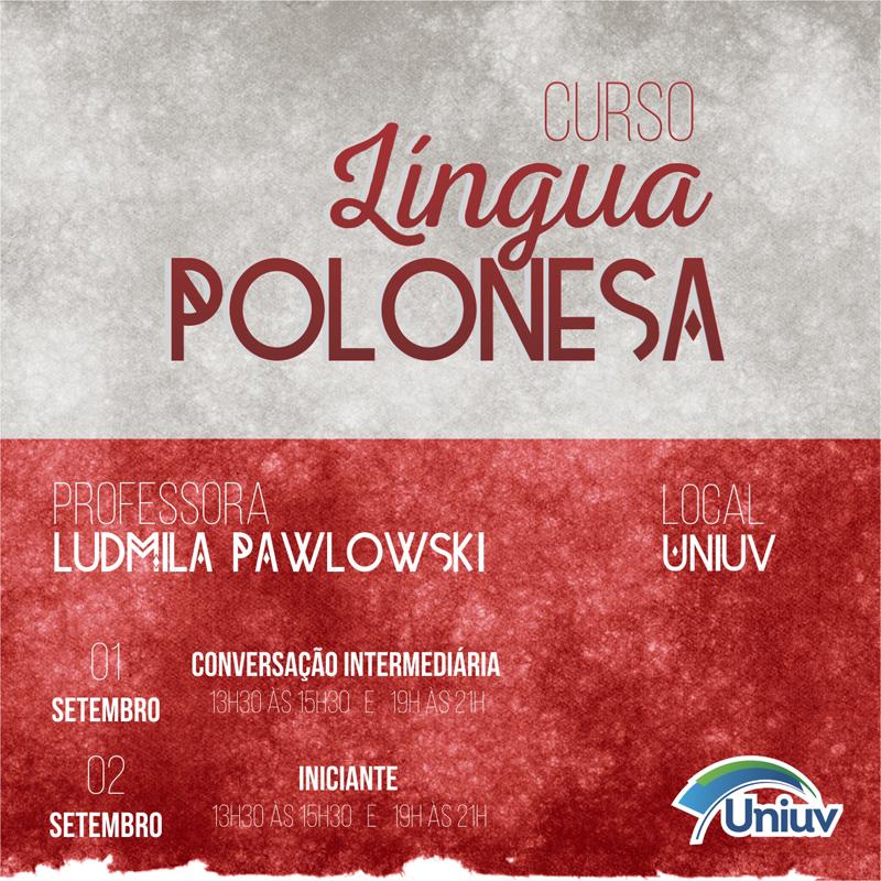 Aulas serão ministradas pela professora Ludmila Pawlowski