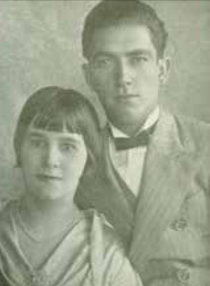 Jovial Carlos do Amaral Wolf e sua esposa, primeiros proprietários. Foto: década de 1930.