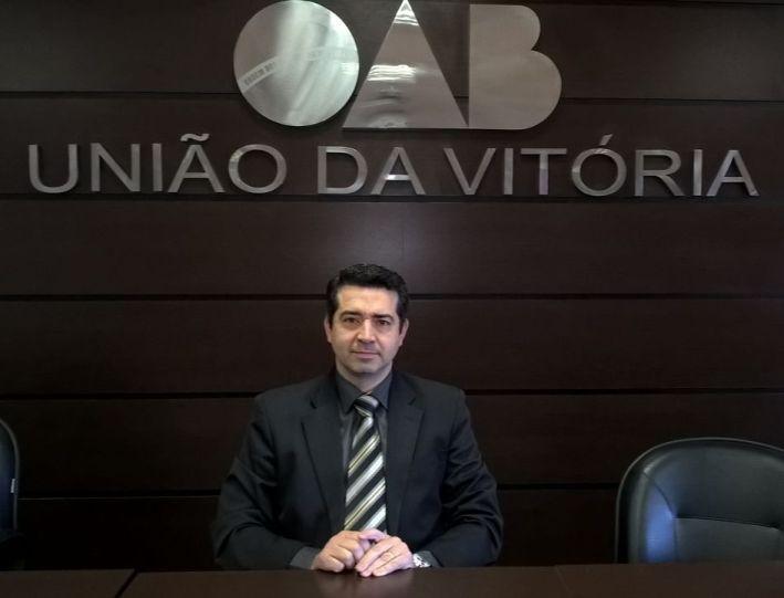 Laury Angelo Fagundes, presidente da subseção da OAB de União da Vitória. (Foto: Jair Nunes).