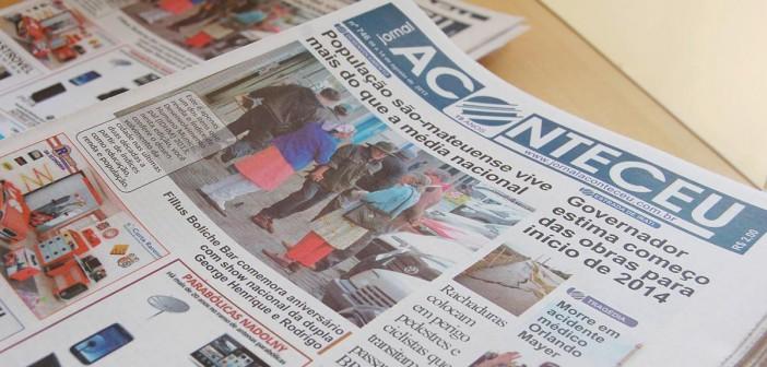 Jornal Aconteceu paralisa atividades na cidade