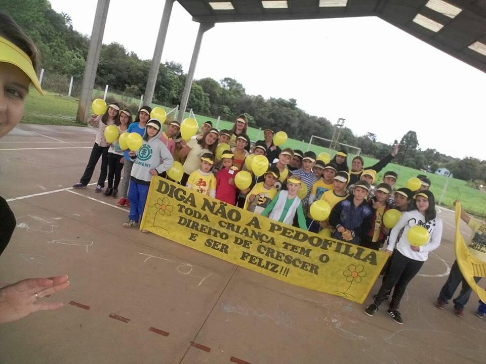 Escola Municipal Sérgio Graciano Meira - Lajeadinho - Escolas do interior do município também aderiram a campanha