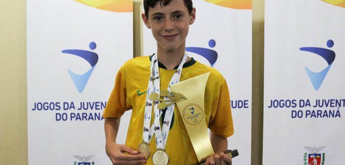 Skatista são-mateuense ganha duas medalhas de ouro no Jogos da Juventude do Paraná