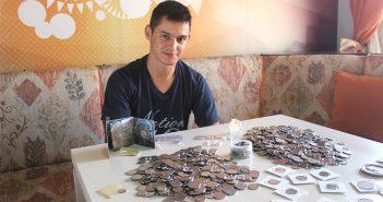 São-mateuense coleciona mais de 2 mil moedas